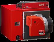 HR-Serie Kombi-Kessel mit Gelbbrenner 230 V inkl. Plattenwärmetauscher