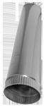 Abgasrohr starr einwandig; Länge 1 m