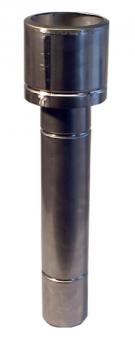Abgashaube lang mit doppelwandigem Rohr