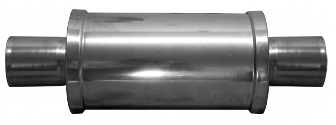 Schalldämpfer Edelstahl 80mm/80mm: KB(50/75) EcoLine, HR(400/500)