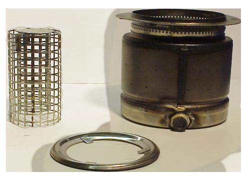 Brennertopf komplett mit Katalysator und Brennerring (E,S,OD,OE,2D,3D)